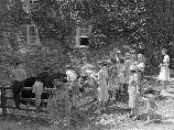 A group of visitors to Peirce Mill in 1940.