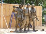 The Three Servicemen Statue prior to restoration.