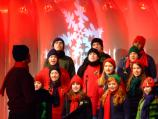 The St. Albans and National Cathedral Schools Choir performed at the Lighting of the National Christmas Tree Ceremony