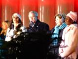 President George W. Bush and Mrs. Laura Bush sang along with the entertainers at the Lighting of the National Christmas Tree Ceremony