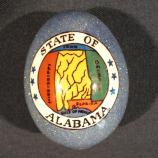 Alabama egg designed by Susan Willard