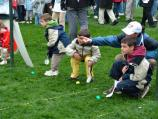 Children 'rolling' the Easter eggs on the South Lawn of the White House