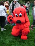 Clifford the Big Red Dog was one of the Strolling Characters on the South Lawn of the White House