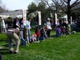 Egg rolling is one of the favorite activity on the South Lawn of the White House.