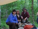 Participating in a wet Leave No Trace camp out