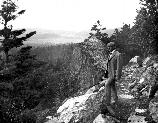 George B. Dorr admires the view from an overlook.