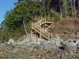 A new set of stairs was constructed down to the water at Pretty Marsh Picnic Area to protect vegetation and provide a safe experience for visitors.