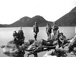George B. Dorr (far right) with the Path Committee at Jordan Pond in 1923.