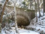 The park's historic carriage road bridges are just as scenic with a little snow on top.