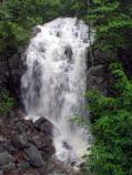 Summer rains bring life to waterfalls along the park's trails.