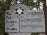 Welcome sign for the Wild Gardens of Acadia