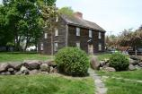Outside view of the John Adams Birthplace taken from the John Quincy Adams Birthplace