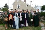 Adams NHP staff and historical characters gather at the end of the event