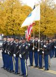 Members of the Massachusetts 54th Volunteer Regiment, Massachusetts National Guard. Veterans Day, November 11, 2011
