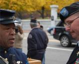 Re-enactor and 54th Massachusetts Volunteer Regiment Officer