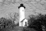 Long Island Head Light sits on Long Island's northernmost drumlin. (Olmsted Center for Landscape Preservation Boston Harbor Islands Cultural Landscape Report.)