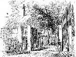Drawing of Gate 1 in the mid 19th century.