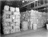 Bales of abaca fibers at the Charlestown Navy Yard. This was the first step in making manila rope.