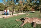 Park Rangers give walking tours at many sites around Jamestown, including the remains of New Towne.