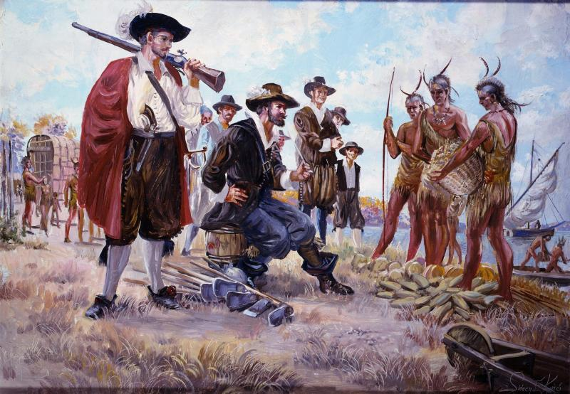 european settlers interaction with the native americans Native american - native american history:  interaction between these nations  an influx of european and euro-american settlers and a series of.
