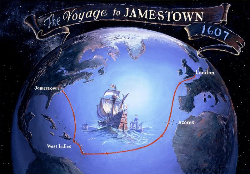 photo gallery (u s national park service) Map Of Voyage From England To Jamestown 01 voyage to jamestown map of voyage from england to jamestown