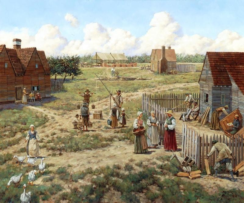 Jamestown, 1630s: Harvey's Industrial Enclave(Keith Rocco, artist).