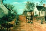 View of the west end of Yorktown's Main Street (Sidney E. King, artist).