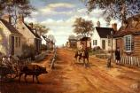 Main Street Yorktown - West  (Sidney E. King, artist).