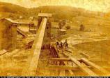 Railway: Looking down trestle approach as it is being built; New Village, NJ; July 30, 1901. 10.220/17