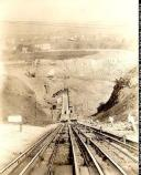 Electric cable railway carrying rock from quarry. 10.220/581