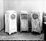 Three cement phonograph cabinets; Ca. 1912. 08.120/23