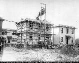 Cement house being built in one day; Union, NJ, October 9, 1919. 08.130/12