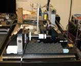 Three-dimensional optical scanner used to model the surface of the recording.