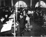 Immigrant Inspection in Great Hall-Ellis Island