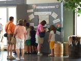 As the day begins it does not take long for people to gather and begin to share their andventures with one another. In our visitor center our National Park map begins to become quite crowded as people tell of trips to the Grand Canyon, Muir Woods, and even Fort Stanwix!