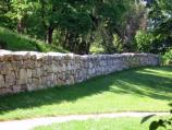 Reconstructed Stone Wall at Fredericksburg