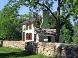 Stone Wall and Innis House at Fredericksburg