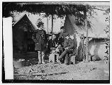 Union staff officers near Falmouth, Virginia.