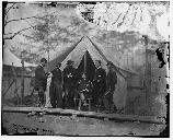 Joseph Dickinson and Hooker's staff. This photo was taken prior to the Chancellorsville Campaign.