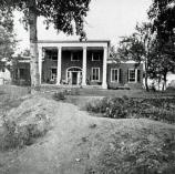 War-time view of rifle pits in front of Brompton, also known as the Marye House.