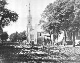 The Fredericksburg Baptist Church was constructed in 1854-55. On December 11, 1862 fighting in the streets of Fredericksburg swirled around the church. In the aftermath of the battle, the church became a Union hospital.