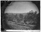 Photo of Chesterfield Bridges. This photo was taken from Union trenches overlooking the bridge.