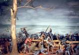 Diorama of Fighting at Bloody Angle on display at Chancellorsville Visitor Center