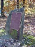 12th New Jersey Monument at intersection of Ornage Plank Road and Brock Road on Wilderness Battlefield