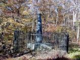 Alexander Hays Monument on Brock Road on the Wilderness Battlefield
