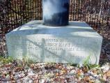 Detail of Alexander Hays Monument on Wilderness Battlefield