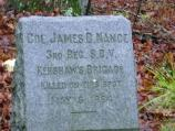 Colonel James Nance Monument on the Wilderness Battlefield