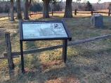 Stonewall Jackson's Arm Monument in the Lacy Family Cemetery at Ellwood on the Wilderness Battlefield