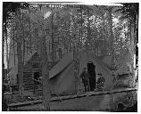 Union winter encampment near Barndy Station, Virginia.