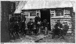 Winter Quarters of Union 6th Corps Staff. The small hut was just outside of Major General John Sedgwick's heaquarters. Sedgwick commanded the 6th Corps.